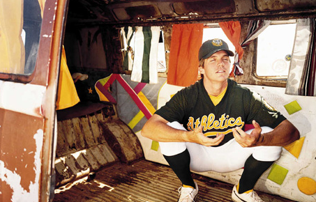 Barry Zito in low yogic squat