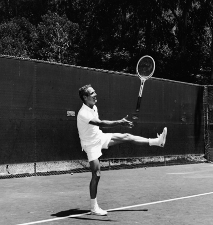 Paul Newman playing tennis